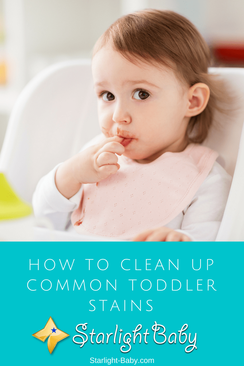 How To Clean Up Common Toddler Stains