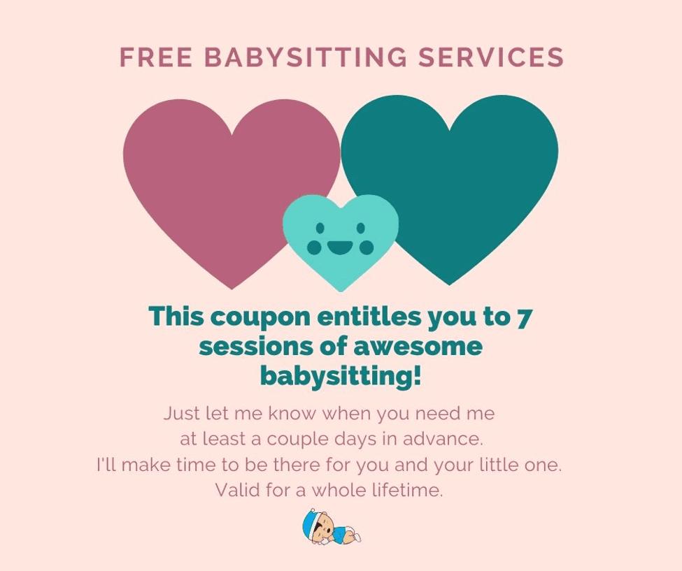 Free Babysitting Coupon