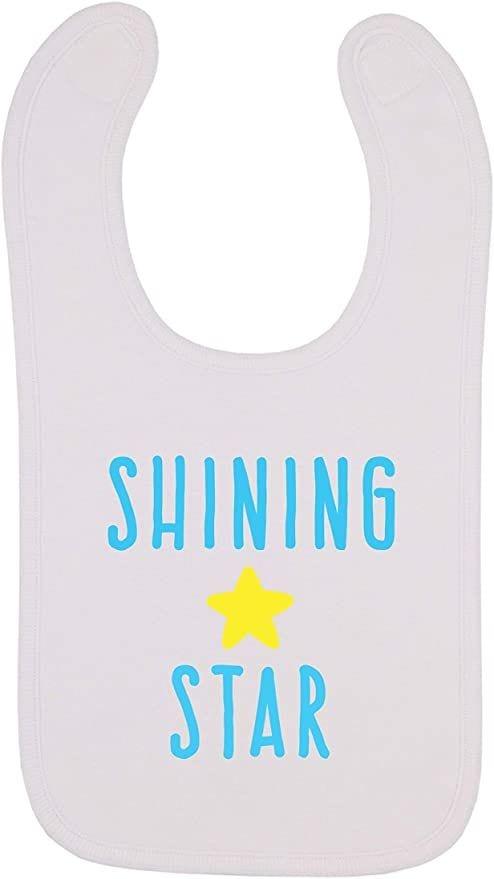 Shining Star, Space Themed Baby Bib