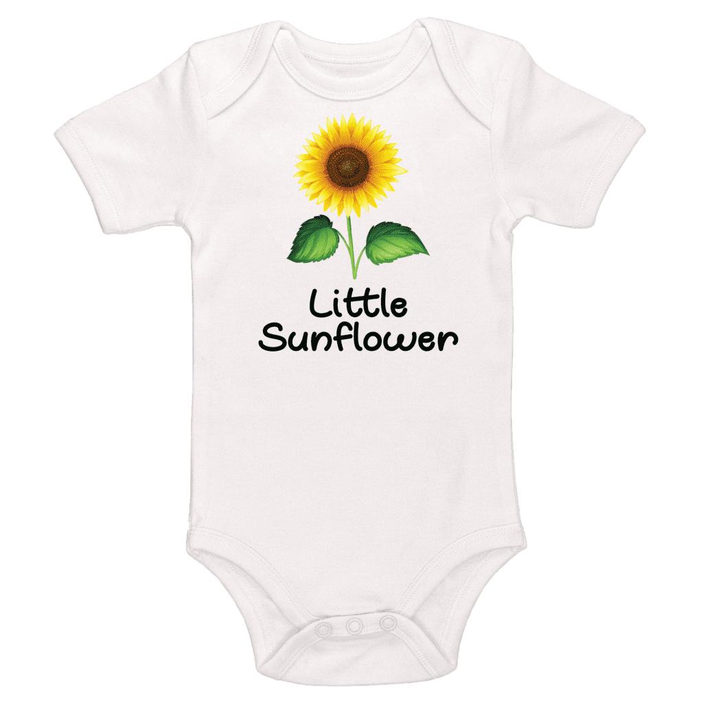 Little Sunflower, Sunflower Themed Baby Bodysuit